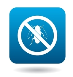 No cockroach sign icon simple style vector