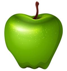 A crunchy green apple vector