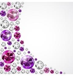 Abstract luxury diamond background vector
