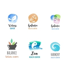 Alternative medicine and wellness yoga concept vector