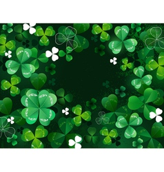 Background with shamrock vector