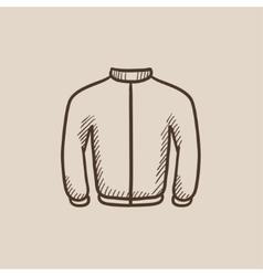 Biker jacket sketch icon vector image