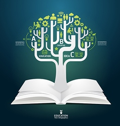 book diagram creative paper cut style template vector image