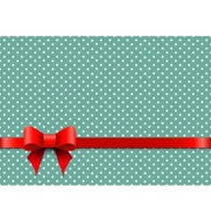 Christmas background with polka dots vector image vector image
