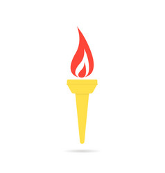 color olympic flame icon vector image