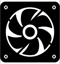 Computer fan icon vector