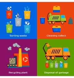 Concept of cleaning sorting processing and vector image