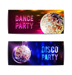 Disco Party Banners Horizontal vector image