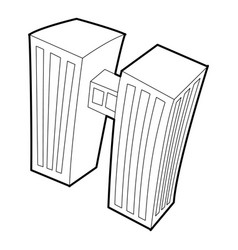 Double building icon outline style vector
