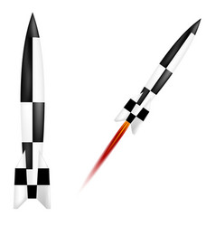 German V-2 rocket vector image vector image