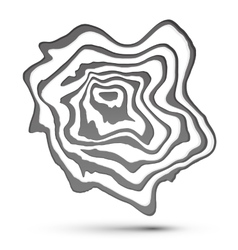 Gray and white marble style abstract shape vector image