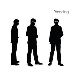 Man in standing pose vector