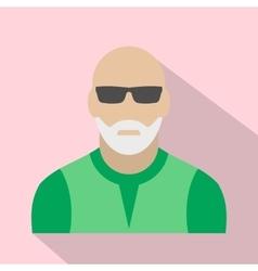 Man with gray beard avatar icon vector