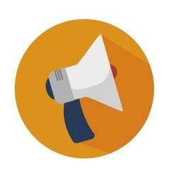 megaphone social d icon vector image