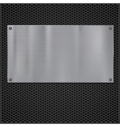 Metal plate over grate texture vector