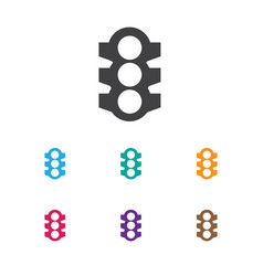Of car symbol on traffic light vector