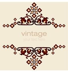 Ornate vintage frames eight vector