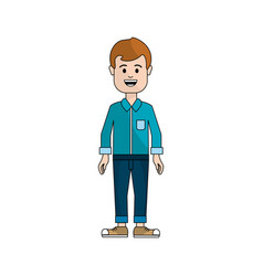 people man with casual cloth avatar icon vector image vector image