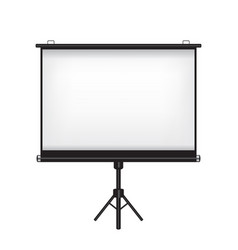 projector screen on white background vector image