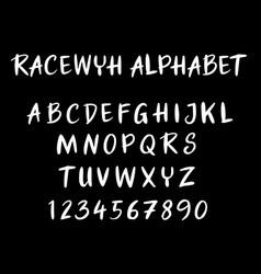 Racewyh alphabet typography vector