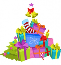 Stack of presents vector