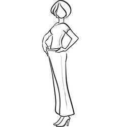 The grown thin woman vector