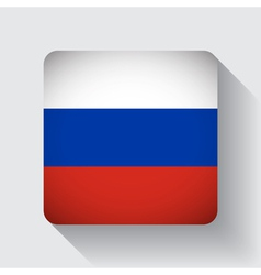 Web button with flag of russia vector