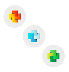 Wedged squares vector
