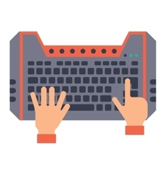 Keyboard hands vector