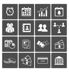 Time and Money Icons Set vector image