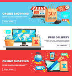 E-commerce banners collection vector