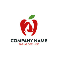 unique beauty logo template vector image
