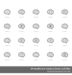 Set of brain icons vector