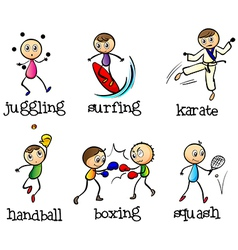 Six different sports vector