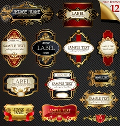 vector frames and labels vector image