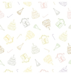 Birthday seamless background vector