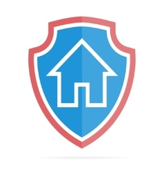 House on shield logo or icon vector