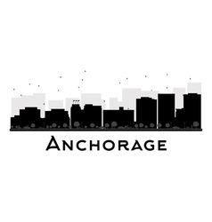Anchorage silhouette vector