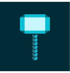Molot hammer abstract flat style of vector