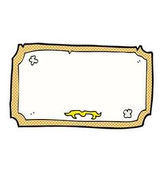 Comic cartoon old frame vector