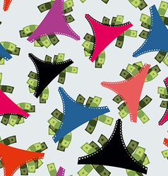 Money panties seamless pattern panties and many vector