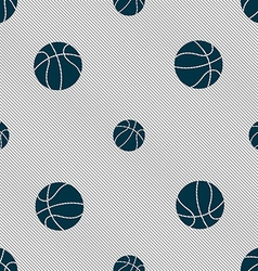 Basketball icon sign seamless pattern with vector