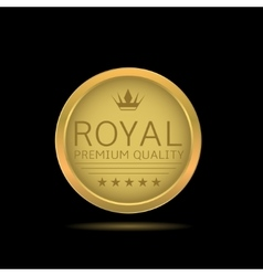 Golden royal label vector