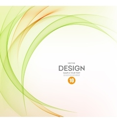 Abstract background orange and green wavy vector