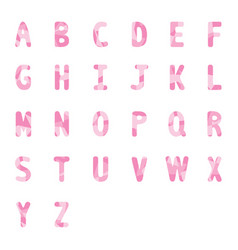 abstract pink alphabets a to z 2 vector image