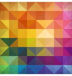 Abstract vibrant triangles background vector image vector image