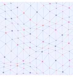 Asymmetrical connected dots colored background vector