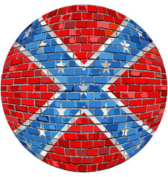 Ball with confederate flag vector