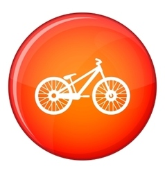 Bike icon flat style vector