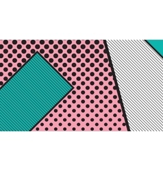 black and white pop art geometric pattern vector image